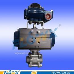 弗雷西气动开关阀、丝口气动球阀、二片式球阀、三片式球阀、三通球阀、卫生级球阀四通