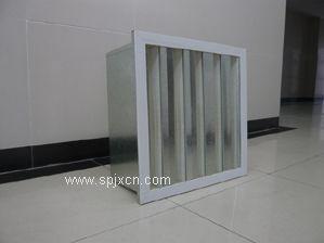 镀锌框V型组全式高效过滤器,镀锌框V型过滤器