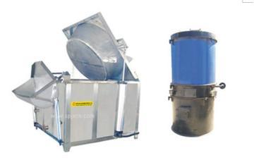 供應JTGD系列氣缸式導熱油加熱全自動油炸機