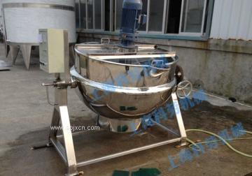 科劳机械-电加热带搅拌夹层锅