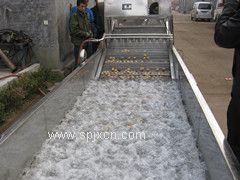 土豆清洗机 昊昌土豆清洗流水线 商超净菜配送清洗机