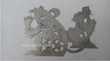 腐蚀工艺不锈钢摆件,激光不锈钢工艺品摆件