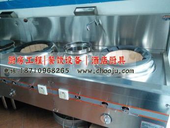 西安雙炒單溫商用工程灶