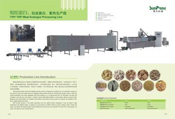 组织蛋白、拉丝蛋白、素肉生产线
