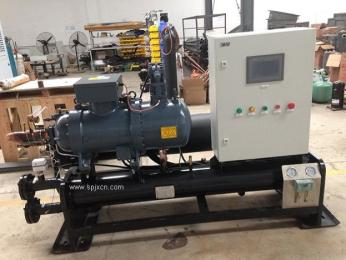 大型螺桿式冷凍機,海產品凍水機
