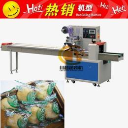 川越自动面包包装机 速食产品枕式包装机 方便面、米粉、河粉包装
