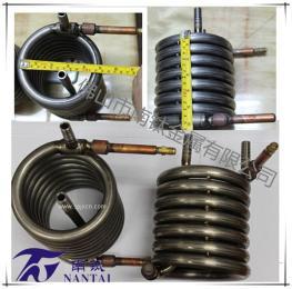 供应2.5kw纯钛同轴套管蒸发器