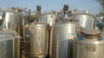 青島供應二手不銹鋼攪拌釜500L-3000L