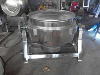供应600L麻辣兔肉搅拌蒸汽煮锅