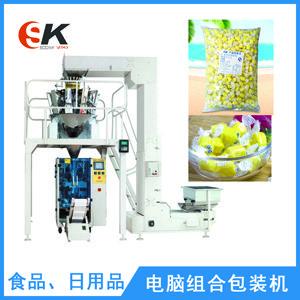 榴莲软质糖 糖果包装机 膨化食品机械加工零食立式包装机 全自动