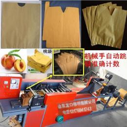 制造水蜜桃果袋套袋机械