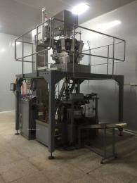大型电子秤炒货包装机,连体式多头电子秤颗粒自动包装机