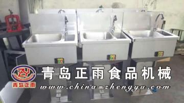 青岛正雨食品机械供应猪牛羊屠宰设备消毒洗手盆