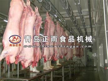 猪屠宰设备白条自动输送线