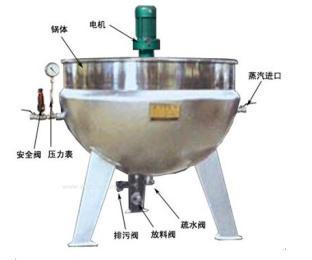 304不锈钢电加热带夹套夹层锅设备|夹层锅生产厂家