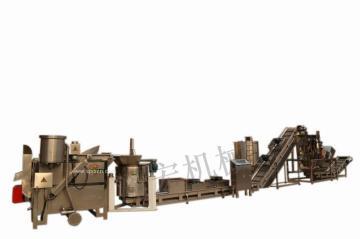 泽宏机械ZHLX-半自动连续油炸生产流水线