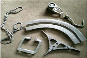 和义HY供应不锈钢羊用双规滑轮 叉裆 屠宰配件