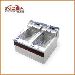 英迪尔 商用电热炸炉 台式双缸双筛电炸炉 汉堡店披萨店厨房设备