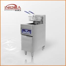 商用18KW带滤油车立式双槽电炸炉 炸鸡排炸鸡柳汉堡店厨房设备