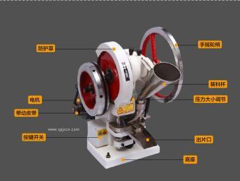 手动电动二用型单冲压片机