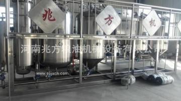 食用油精煉設備主要工藝流程