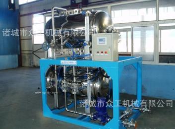 众工机械 700型全不锈钢电加热蒸汽喷淋 杀菌锅