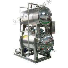 众工机械 喷淋式 不锈钢 半自动 电汽两用杀菌锅