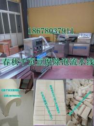 千页豆腐除泡机器抽浆机、千页豆腐装盘机、千页豆腐块无泡技术