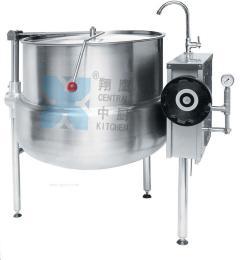 皇冠型蒸汽夹层锅、汤锅、熬煮锅、夹层锅、厨房设备