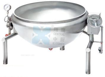 可倾蒸汽旋转炒锅、厨房设备、旋转炒锅、厨房设备、可倾炒锅、不锈钢锅