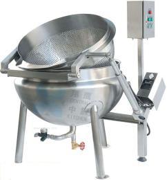 蒸汽自动液压翻转漂烫锅、自动漂烫锅、翻转锅、厨房设备、熬煮设备
