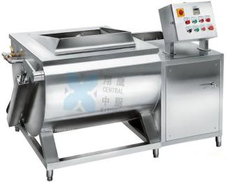 单斗翻转洗菜机、自动洗菜机、果蔬清洗机、鼓泡涡流清洗机
