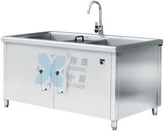 双杠洗菜机、果蔬清洗机、清洗机、厨房设备、鼓泡涡流清洗机