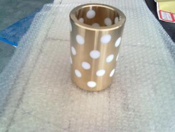 特氟龙镶嵌铜轴套聚四氟乙烯柱镶嵌无油轴套