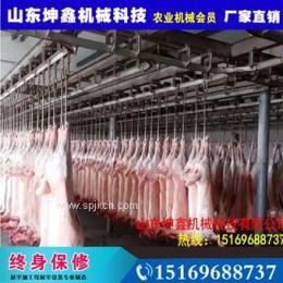 厂家直销新屠宰设备毛猪悬挂放血自动输送机