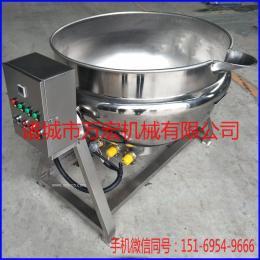 供应万宏机械100电加热夹层锅 导热油蒸汽夹层锅 猪蹄卤煮锅