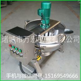 供应万宏机械300电加热夹层锅 导热油蒸汽夹层锅 猪蹄卤煮锅
