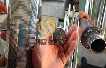 渤森V型条缝精密滤芯  烛式硅藻土过滤机滤芯