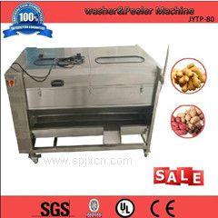 JYTP-80根茎类毛刷清洗机价格,芋头清洗去皮机,洗马蹄机,山药清洗机