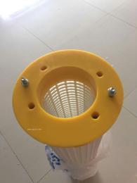 厂家直销黄色胶盖搅拌站仓顶除尘滤芯