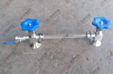 厂家巨捷 生产DN20快装连接玻璃管液位计、水位计(带排污阀)