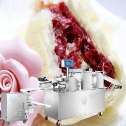 供应旭众仿手工酥饼机 云南鲜花饼机 做榴莲饼的机器 酥饼机视频 广式酥饼机