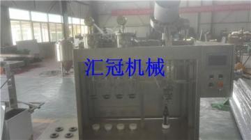 匯冠啤酒設備玻璃瓶半自動沖灌封合體機4-4-1