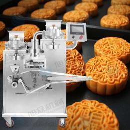 做月饼的机器 仿手工月饼机 广州月饼流水线 多功能自动包馅机 中秋月饼包馅机