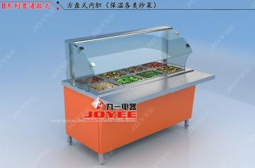 快餐保温展示柜 保温柜 保温台 快餐保温设备