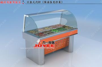 食品保濕柜 小碗菜保溫臺 電加熱保溫臺 五格保溫售飯臺