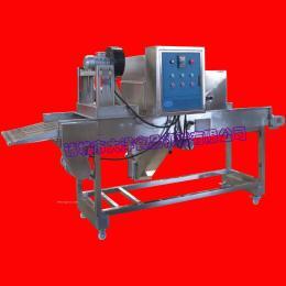 大洋制造土豆饼挂浆机|网带传送南瓜饼上浆设备