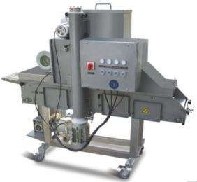 ZSSF600-V上粉机,上屑机,上浆机,全自动成型机,肉饼成型机