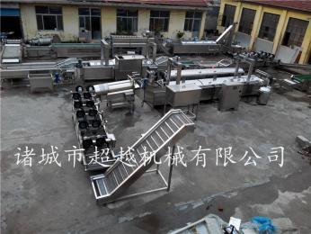大型连续式速冻薯条生产线专业厂家,定制油炸流水线