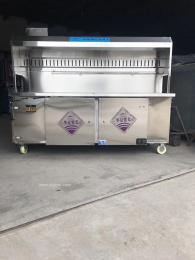 石家庄环保烧烤车1.5米无烟碳烤净化车可
